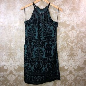 Max Studio Velvet Burnout Halter Dress New